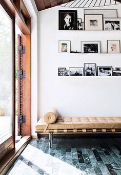 shelf gallery wall