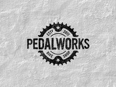Pedalworks logo #type #vintage #logo
