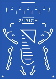 Design for Life, by Dominic Rechsteiner #inspiration #creative #design #graphic #zurich #poster #blue