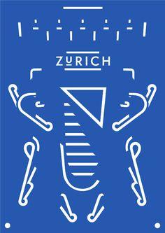Design for Life, by Dominic Rechsteiner #inspiration #creative #design #graphic #zurich #poster #blue