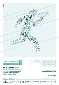 Fast Forward '11 - João Loureiro — Graphic Design #portugal #forward #fast #poster