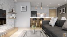 3D Archviz - LIVING ROOM - Masteri Aparment - by Hữu Phước