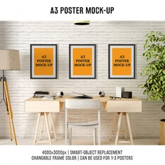 Posters mock up design Free Psd. See more inspiration related to Poster, Mockup, Design, Template, Web, Website, Mock up, Poster template, Desk, Posters, Templates, Website template, Mockups, Up, Three, Web template, Realistic, Real, Web templates, Mock ups, Mock and Ups on Freepik.
