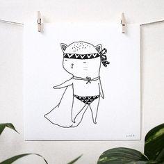 animal, character, line illustration