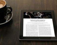 Tom Newton – Beacon #text #news #ipad #design #minimal #coffee #layout #magazine