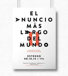 El anuncio más largo del mundo www.thelongestad.com #ad #typography #poster #copywriting