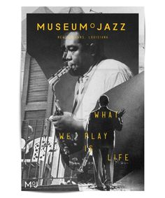 MoJ | New Orleans on Behance #branding #museum #jazz #print #yellow