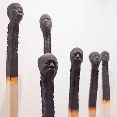 Absolutely unreal matchstick men by @wolfgang_stiller #Designspiration #tinyart #art #sculpture