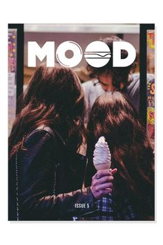MOOD Music + Food Mag #cream #ice #publication #photography #logo #layout #magazine
