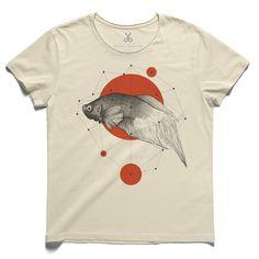#fourpoints #beige #tee #tshirt #lookingforalaska #fish #kaanbagci #reddot #polygon