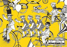 Bicycles #bikes #allan #victorian #yellow #bicycles #edwardian #gentlemen #deas
