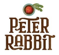 Peter Rabbit #design #type #logo #texture