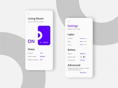 Light mode UX/UI for LED control system