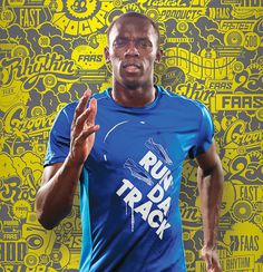 Usain Bolt - Run Da Track #puma #usain #bolt #shirt