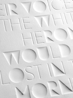 Haiku - Eli Kleppe #type #print #emboss #typography