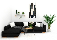 Unique Wooden Wall Art Black and White image 0