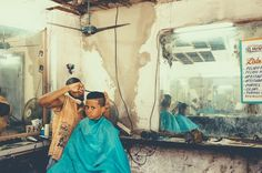 Chris Burkard #boy #haircut #barbershop #environmental portraits