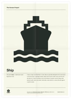 The Human Project (Ship) Poster #inspiration #creative #design #graphic #grid #system #poster #typography