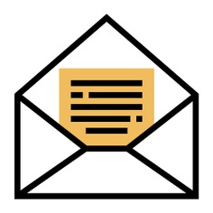 See more icon inspiration related to letter, telegram, shipping and delivery, service, message, envelope and communication on Flaticon.