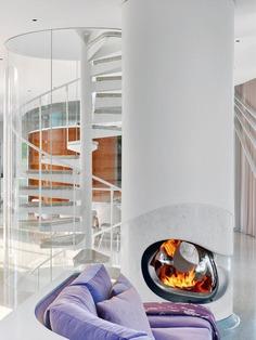 fireplace / Dirk Denison Architects