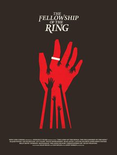 The Fellowship of the Ring #inspiration #creative #movie #design #minimal #poster