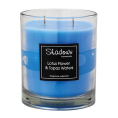 2-Wick Jar Lotus Flower & Topaz Water Scented Candle