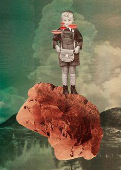 GEHIRN & GEIST - STOTTERTHERAPIE | ILLUSTRATION #collage
