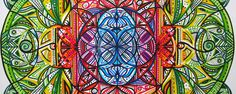 Chakra Mandala by Nadja Christin #mandala #illustration #drawing #colours #colourful #color #syneasthesia