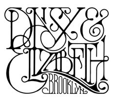typeverything.com- Daisy & Elizabeth. - Typeverything #logo #letter #text #typography