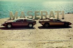 Merde! - Commercial (1976 poster for the Maserati Bora and... #commercial