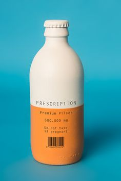 (vía Packaging of the World: Creative Package Design Archive and Gallery: Prescription Pilsner (Student Work))