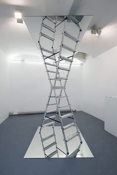 infinite ladder by Dmitri Obergfell #ladder #mirror #sculpture