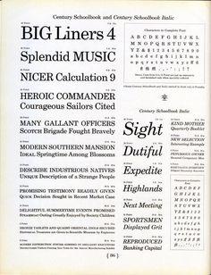 Century Schoolbook #typography