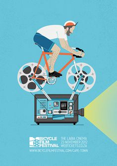 Bicycle Film Festival Poster on Behance #poster #festival #bicycle #film