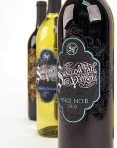 Swallowtail Vineyards on Behance #labels #packaging #noir #label #wine #photography #swallowtail #pinot #vineyards