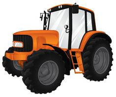 Heavy Machinery on the Behance Network #orange #machinery #illustration #tractor #agriculture