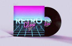 Retro Futuristic Vinyl Cover