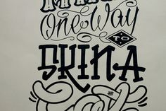 Skin A Cat Me and Gonzo #typography #poster #lettering #rad #sharpie #meandgonzo #kin a cat