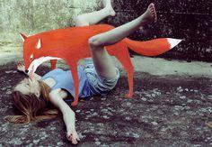 Illustration:Me / Photo:M.Hochhaus #fox #girl #photo #imagination #illustration #hello