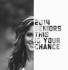 2014 Seniors #photography #portrait #typography