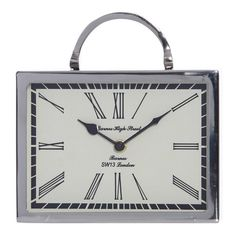 Beale Aluminium Rectangular Table Clock