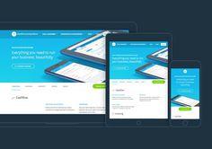 #xero #web #responsive #blue #clean