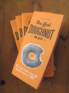 New York Doughnut Map #typography #orange #retro #black #doughnuts #york #new