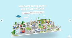 google creative sandbox #animation #interactive #design #illustration #web #google #graphics #village #paper