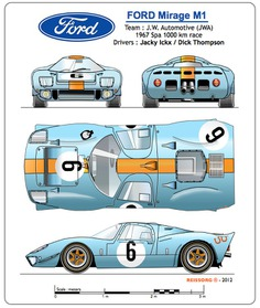 MIRAGE M1 #classic #racing #cars #blueprint #sport #vintage #auto #ford