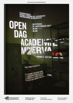 Academie Minerva Open Day, identity/info board submitted, designed and photographed by Christoph Schörkhuber (2012)–Type OnlyUnit Editi #minerva #identityinfo #editi #board #submitted #onlyunit #academie #photographed #bychristoph #day #designed #open #schrkhuber2012type