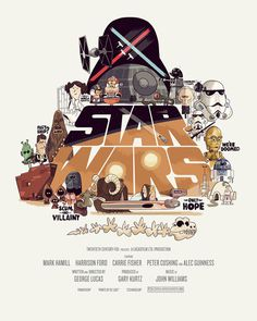 STAR WARS Trilogy movie poster tribute #movie #design #graphic #illustration #poster