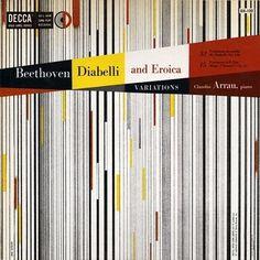 Symphonie Fantastique: Diabelli and Erotica (Decca, 1953) #album #1950s #design #graphic #cover
