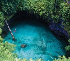 To Sua Ocean Trench in Samoa #swimming #pool #location #nature