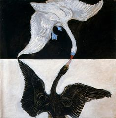 O World invisible: Hilma af Klint #art #abstract #sweden #bird #swan